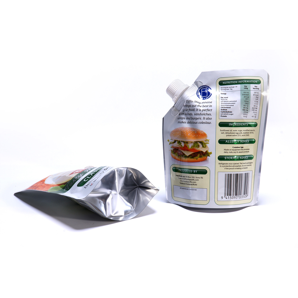 Mayonnaise Food Packaging Stand Up Spout Pouch