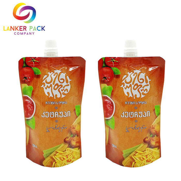 Doypack Laminated Spout Pouch For Tomato Sauce