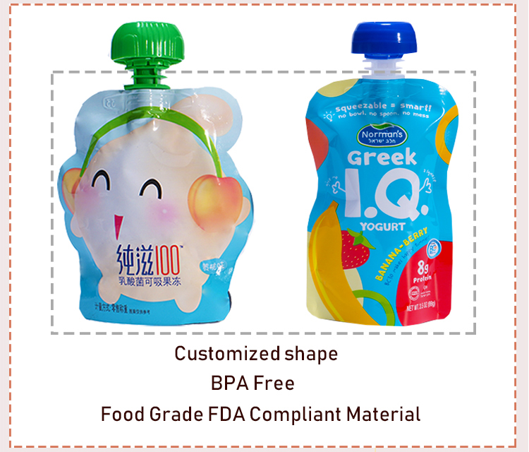 Spout Pouch For Baby Food Packaging
