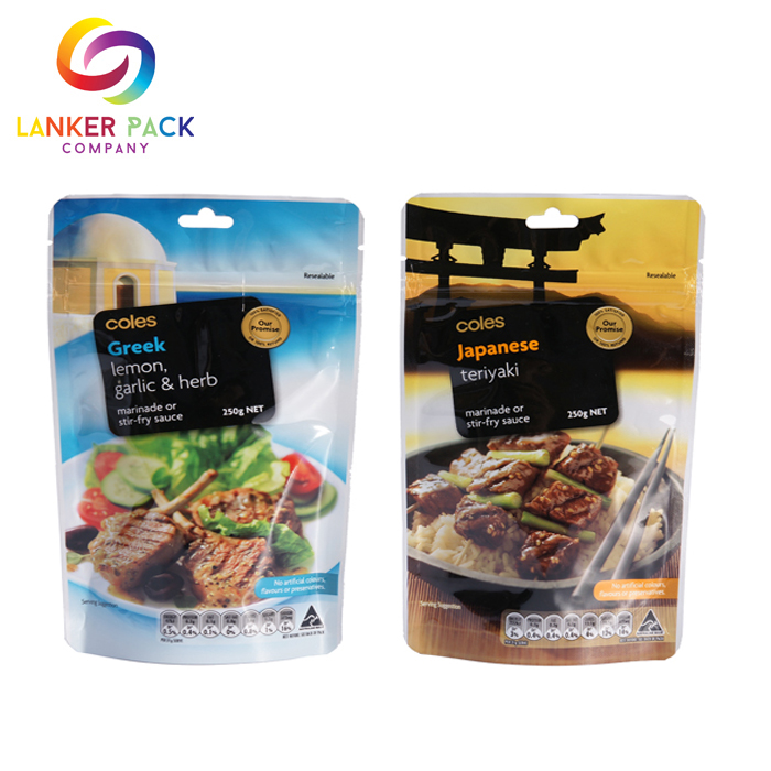 Moisture Proof Laminated Plastic Custom Food Ziplock Pouch