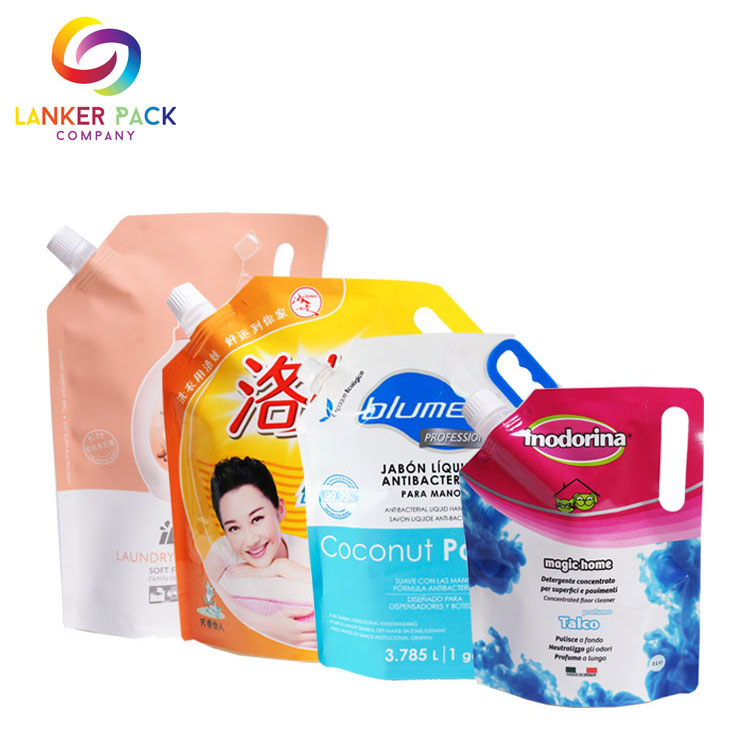 Custom Printed Stand Up Laminated Soap Spout Pouch