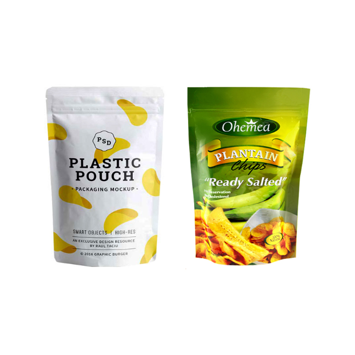 Air-proof Laminated Plastic Standing Pouches For Snack