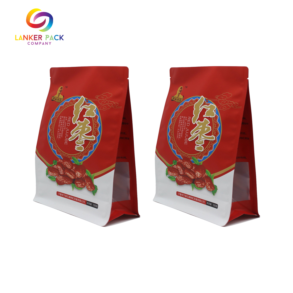 Laminated Aluminum Flat Bottom Pouch For Snack