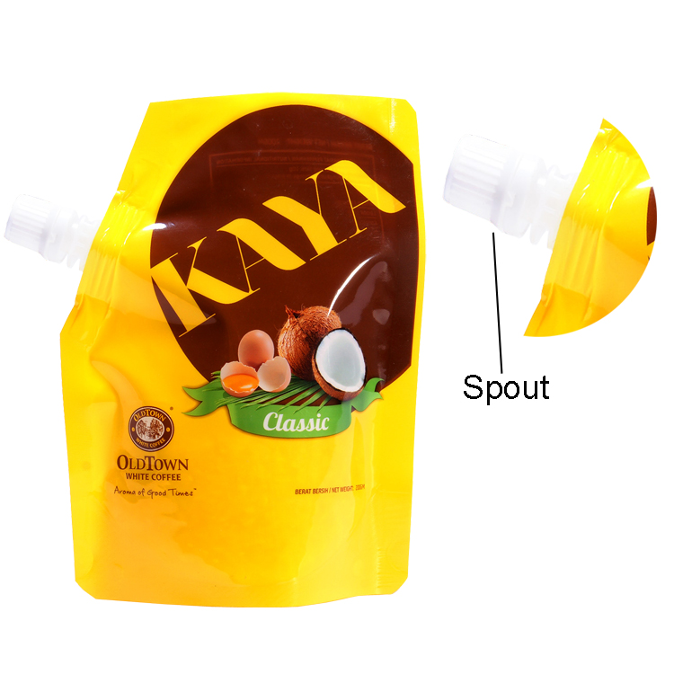 Spout Aluminum Foil Packaging Juice Plastic Bag